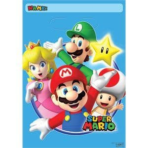Party Bags: Super Mario Party Bags - Plastic Loot Bags (8pk)
