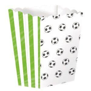 Party Box: Football Kicker Party Popcorn Boxes x4pk