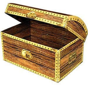 Party Box: Large Treasure Chest Box - 30cm (each)