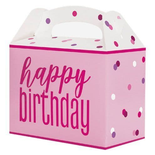 Party Boxes: Pink Birthday Glitz Party Box x6pk