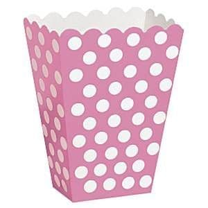 Party Boxes: Pink Polka Dot Treat Boxes (8pk)