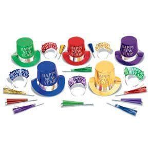 Party Kit:Colourful New Year Party Kit for 10 People