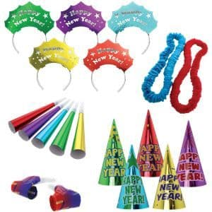 Party Kit: New Year Colourful Party Kit for 10 People