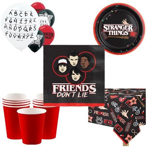 Party Packs: Stranger Things Party Pack for 8, 16, 24 or 32 People (price shown for 8pk)