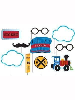 Photo Booth: All Aboard Train Photo Booth Props 10pk
