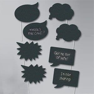 Photo Booth: Chalk Photo Booth Props x8pk