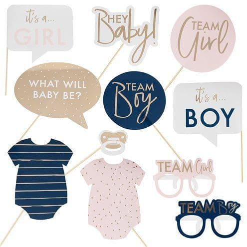 Photo Booth: Gender Reveal Photo Props x10pk