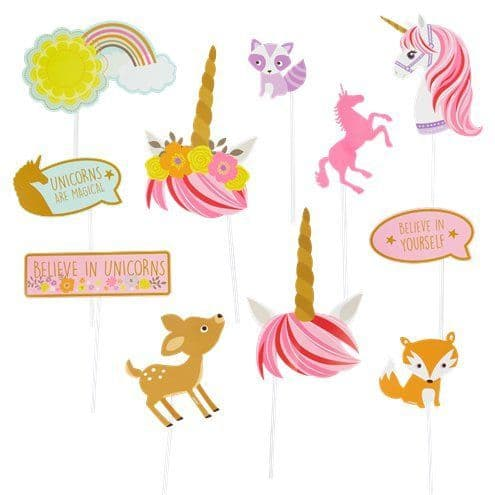 Photo Booth: Magical Unicorn Photo Props x12pk