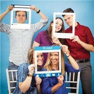 Photo Booth: Social Snaps Photo Booth Frames - 36cm x3pk