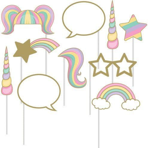 Photo Booth: Unicorn Sparkle Photo Booth Props
