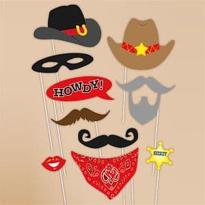Photo Booth: Western Cowboy Photo Booth Props x10pk