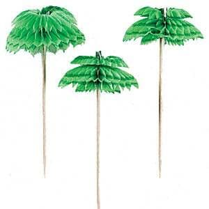Picks: Palm Tree Honeycomb Drink Picks (12pk)