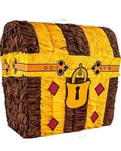 Pinata: Treasure Chest Piñata - 31cm tall (each)