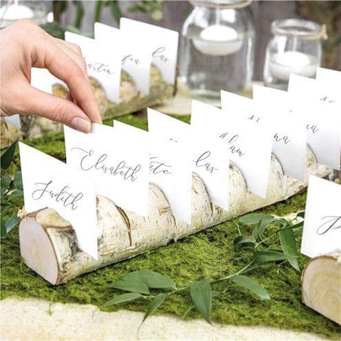Place Cards: Wooden Log Multi Place Card Holder