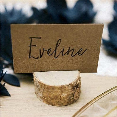 Place Cards: Wooden Log Place Card Holders x10pk