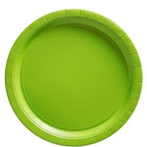 Plates: Kiwi Green Party Paper Plates 22.8cm (8pk) , (20pk) or (50pk)