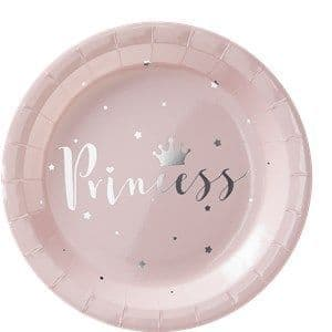 Plates:  Princess Perfection Silver Foiled Paper Plates x8pk