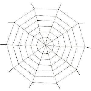 Prop: Halloween Giant Rope Spiders Web - 1.5m (each)