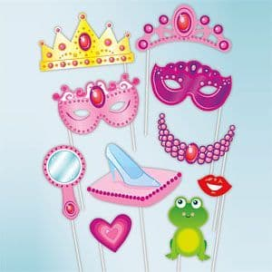 Propos: Princess Photo Booth Props x12pk