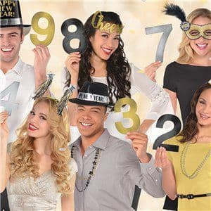 Props: New Year's Countdown Photo Props