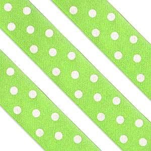 Ribbon: Green Polka Dot Cake Ribbon (each)