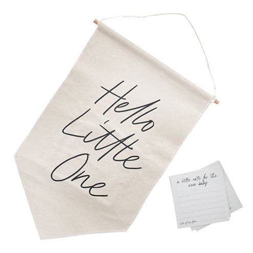 Sign: Hello Little One Canvas Sign & Cards