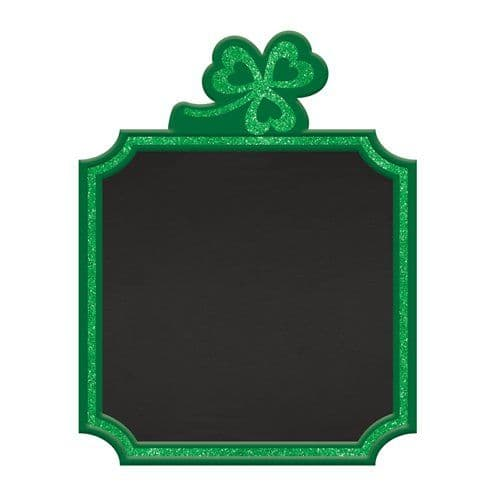 Sign: St Patrick's Day Standing Chalkboard Sign - 23cm