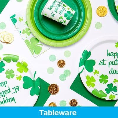 St Patricks Day Tableware