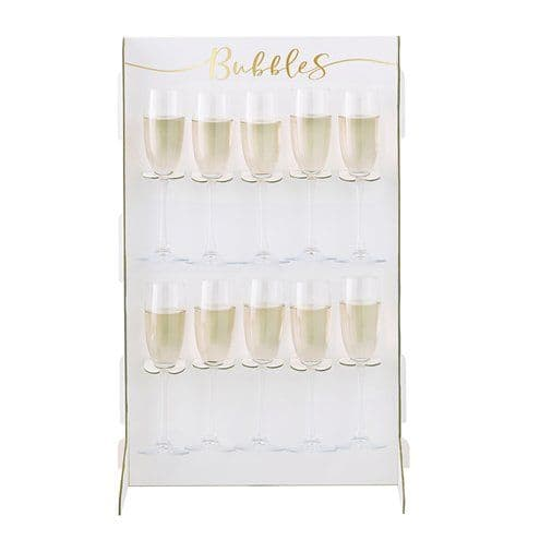 Stand: Gold Wedding Prosecco Wall Drinks Holder