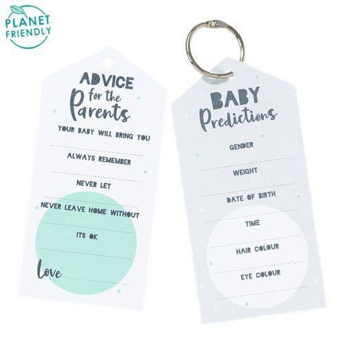 Stationery: Born To Be Loved Keyring Advice Cards x20pk