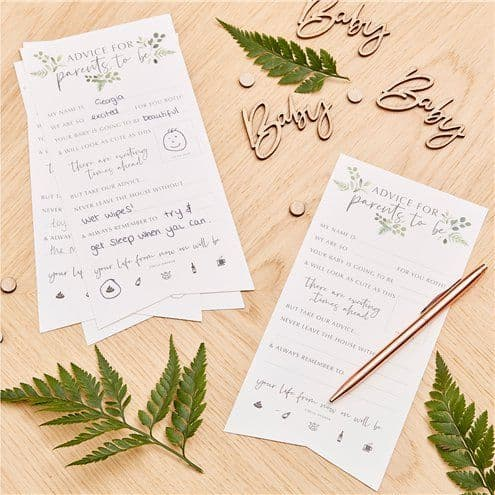 Stationery: Botanical Baby Advice For The Parents Cards x10pk