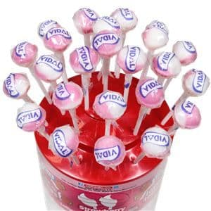 Strawberry & Cream Flavour Lollipops - 150pk - Gluten Free