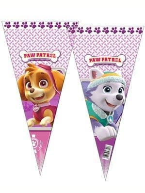 Sweet Bags: Paw Patrol Pink Cone Cello Bags 6pk