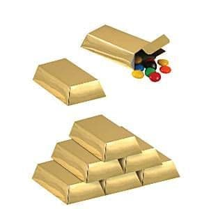 Sweets: Foil Gold Bar Favor Boxes x12pk