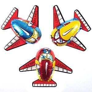 Sweets: Foiled milk chocolate aeroplanes. x6