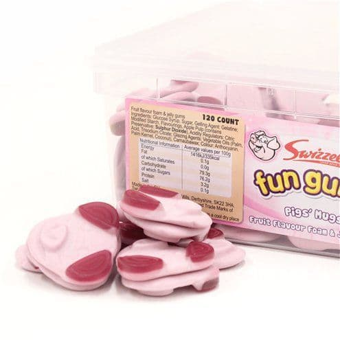 Sweets: Fun Gums Pig's Mugs Tub x120