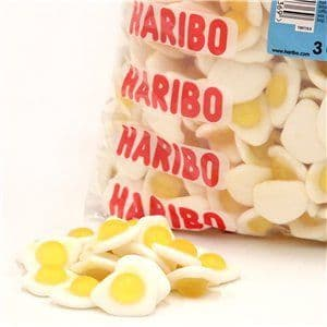 Sweets: Haribo Fried Eggs Bulk Bag (each) 3000g / 105.82oz