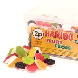 Sweets: Haribo Fruity Frogs Tub (998g)