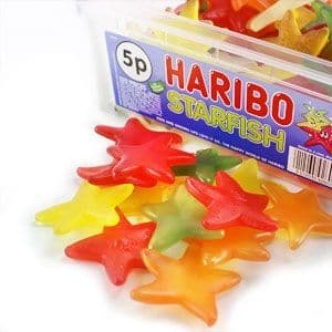 Sweets: Haribo Jelly Starfish Tub (120pk)