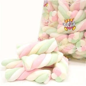 Sweets: Mallow Twists 1kg Bulk Bag