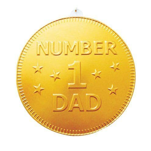 Sweets: No 1 Dad Chocolate Medallion - 90g