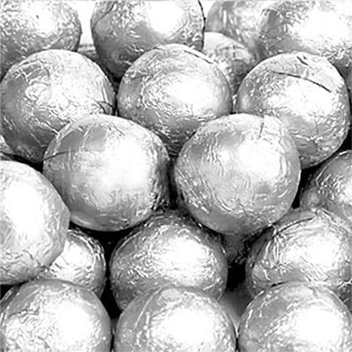 Sweets: Silver Chocolate Balls - 25pk