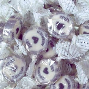Sweets: Silver 'Just Married' Rock Sweets - 300g
