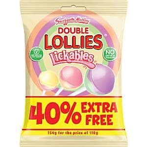 Sweets: Swizzels Double Lollies Lickables (15pk)