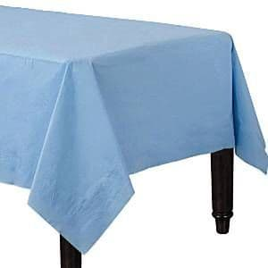 Table Cloth: Baby Blue Tablecover - Paper - 90cm x 90cm (2pk)
