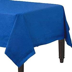 Table Cloth: Bright Royal Blue Royal Blue Paper Tablecover (2pk)