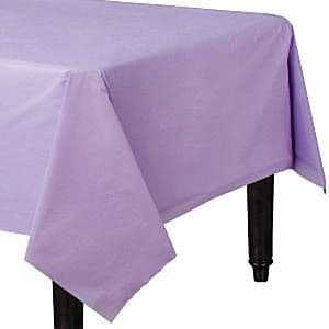 Table Cloth: Lilac Plastic Tablecover - 1.4m x 2.8m