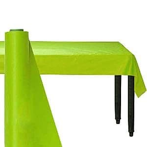 Table Cloth: Lime Green Table Roll - 30m Plastic (each)