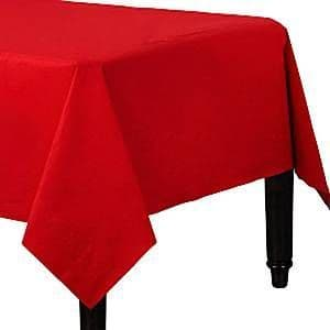 Table Cloth: Plain Partyware Red Paper Tablecover (2pk)