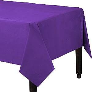 Table Cloth: Purple Plastic Tablecover - 1.4m x 2.8m x1